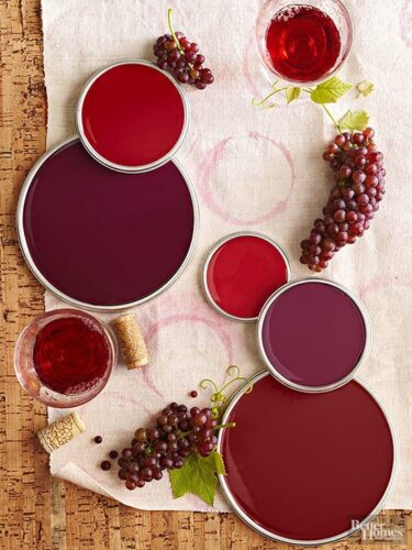 DECORATING WITH WINE COLORS