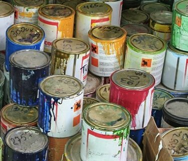 How to Dispose of Old Paint and Cans